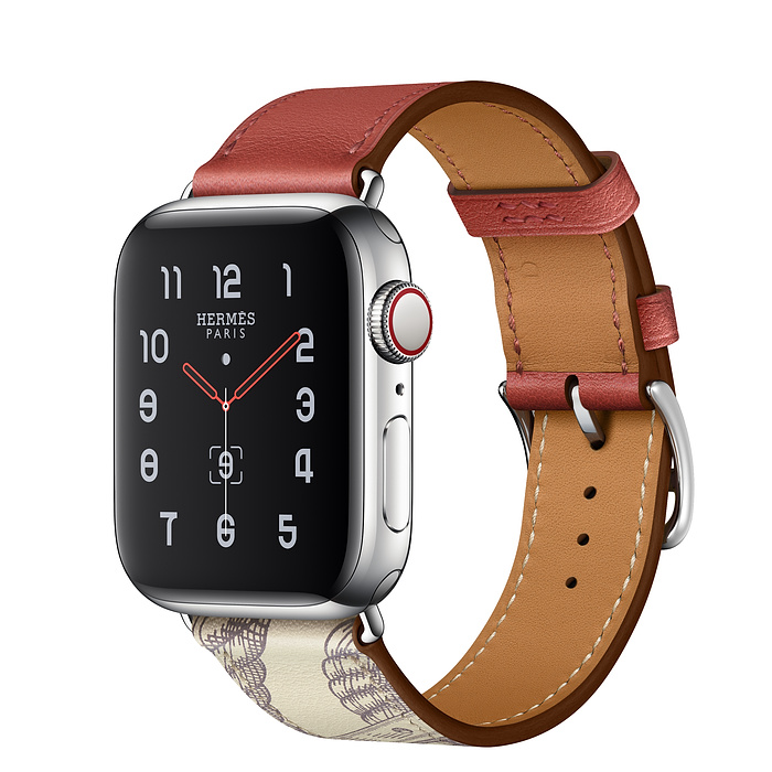 Apple Watch Hermes Series 5 40mm Brique/Beton with Leather Single Tour