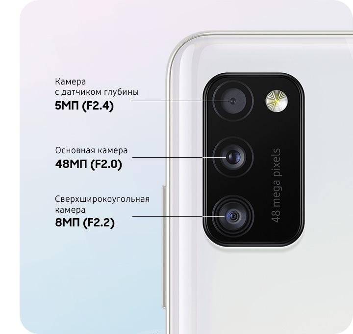 Samsung Galaxy A41 камера