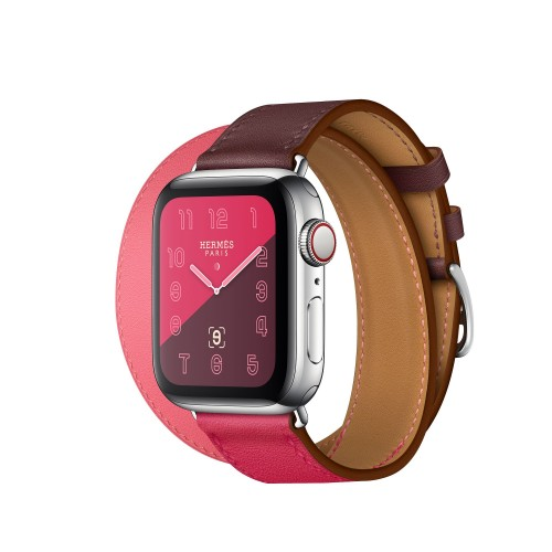 Apple Watch Hermes Series 6 40mm Bordeaux Rose with Double Tour
