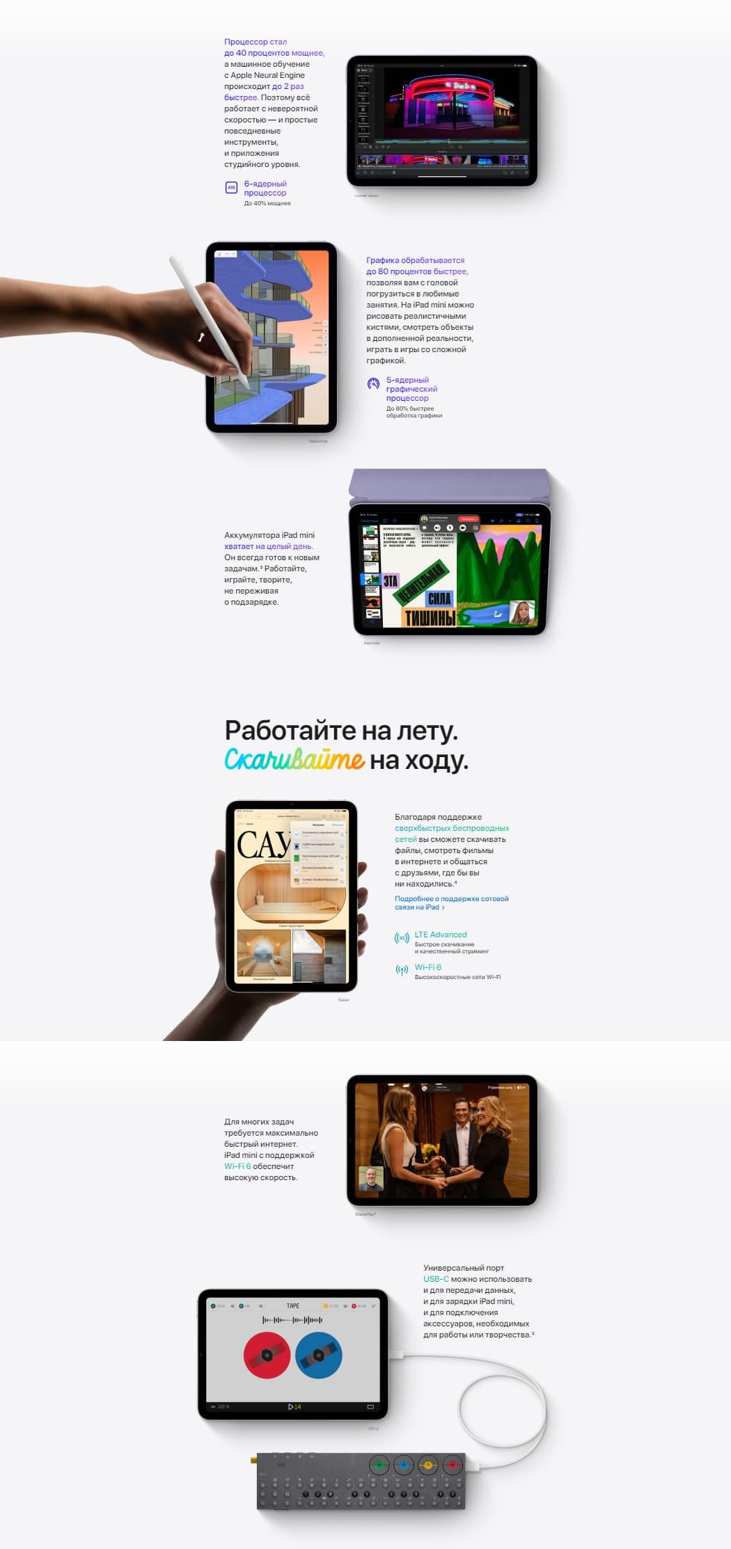 iPad mini 2021 характеристики