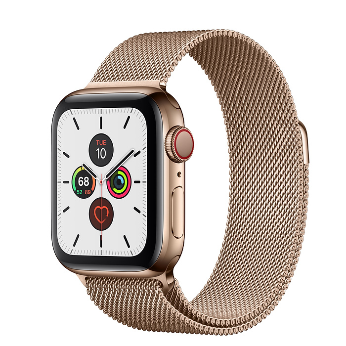 Apple Watch Series 5 40mm Gold Milanese Loop