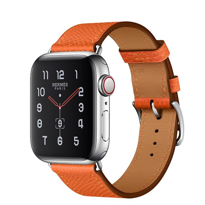 Apple Watch Hermes Series 5 40mm Feu Leather Single Tour