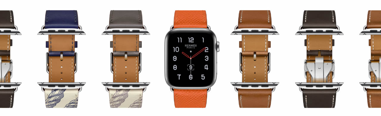 Apple Watch Series 5 Hermes ассортимент ремешков