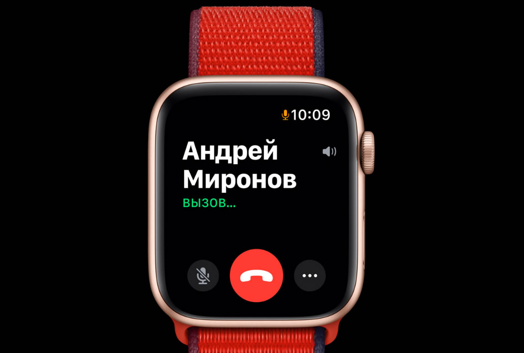 apple watch 6 звонки