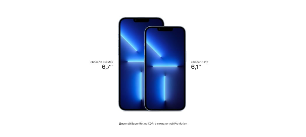 iPhone 13 Pro размеры