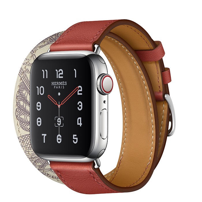 Apple Watch Hermes Series 5 40mm Brique/Beton with Leather Double Tour
